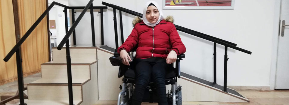 Raneem is Back to School with Electrical Wheelchair