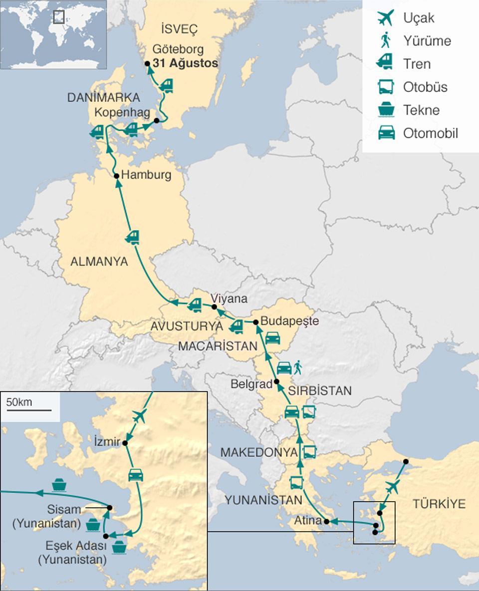 Mültecilerin yol haritası