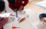 Suriyeli Anneler ve Çocuklarla Kolaj ve Maske Boyama Atölyesi