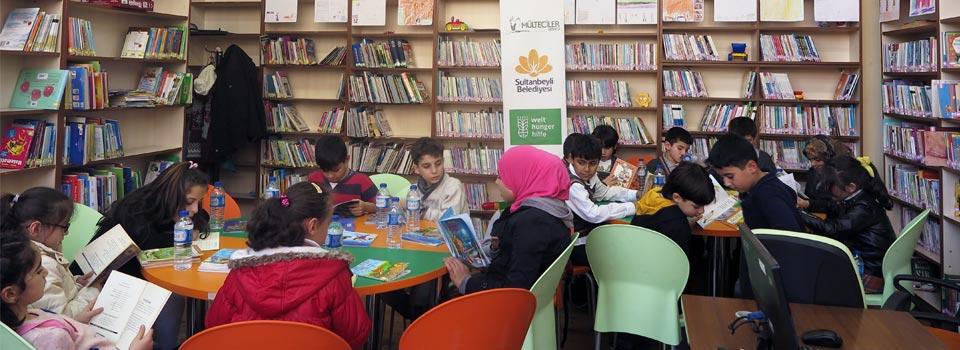 Çocuklar Kütüphane