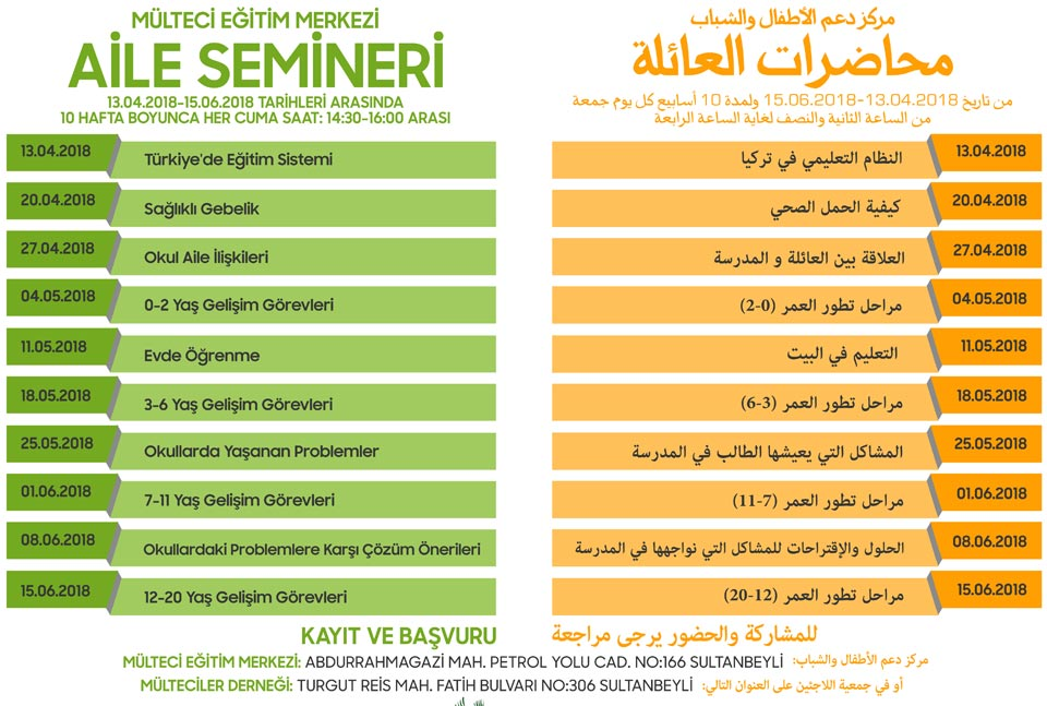 Aile Semineri programı