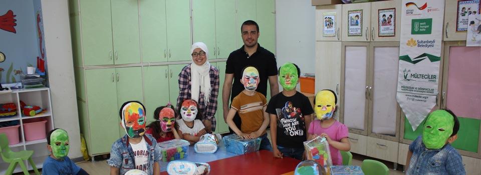 Çocuklarla maske atölyesi