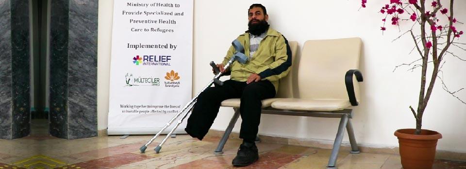 Hapiste Bir Ayağını Kaybeden Taha için Protez Desteği