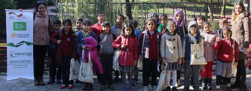 Botanik Bahçe Gezisindeki Çocuklar