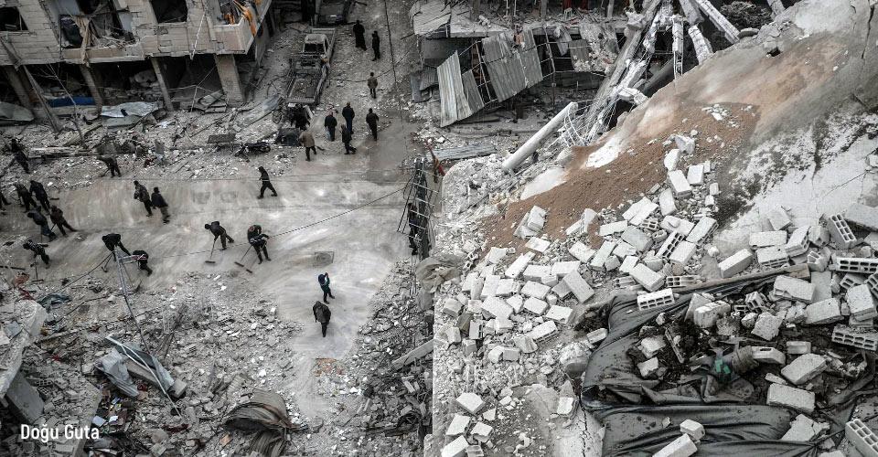 Doğu Guta yıkılmış evler