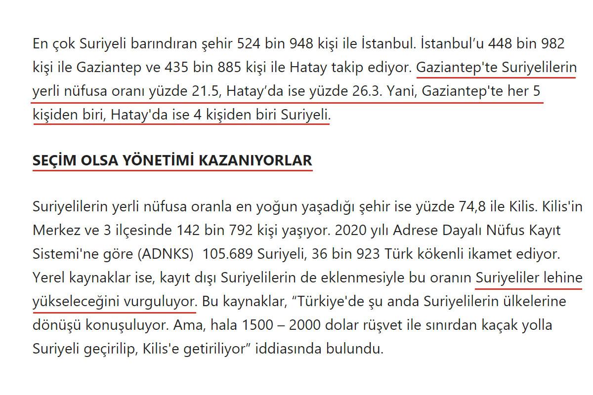 Kilis'te Yaşayan Her 4 Kişiden Sadece 1'inin Türk Olduğu İddiası Sözcü Ahmet Kaya @ahmetkaya2527